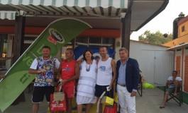 MOLEA A CESENATICO PER LE PREMIAZIONI DEL BEACH TENNIS AICS