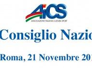 21 NOVEMBRE: CONSIGLIO NAZIONALE AICS IN OCCASIONE DELL'EVENTO SPIN