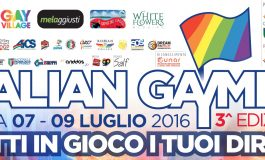 """ITALIAN GAYMES"", METTI IN GIOCO I TUOI DIRITTI"