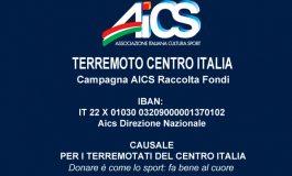 SISMA CENTRO ITALIA, AICS IN AIUTO AI TERREMOTATI