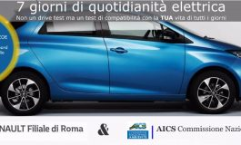 AMBIENTE, A BORDO DI UN'AUTO ELETTRICA CON AICS IN GIRO PER ROMA