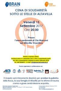 VICENZA, CENA DI SOLIDARIETA' PER BRAIN, ASSOCIAZIONE TRAUMI CRANICI @ Vicenza | Vicenza | Veneto | Italia