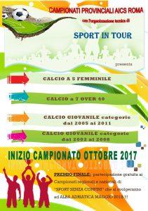 ROMA, CALCIO: APERTE LE ISCRIZIONI AI CAMPIONATI PROVINCIALI AICS ROMA @ Roma | Roma | Lazio | Italia