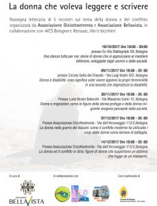 BOLOGNA, RASSEGNA LETTERARIA SULLA DONNA @ Bologna | Bologna | Emilia-Romagna | Italia