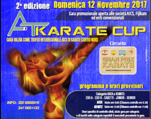 KARATE, TROFEO INTERREGIONALE AICS CENTRO NORD ITALIA