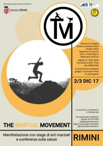 RIMINI, CON AICS THE MARTIAL MOVEMENT IL 2 E 3 DICEMBRE @ Rimini | Rimini | Emilia-Romagna | Italia