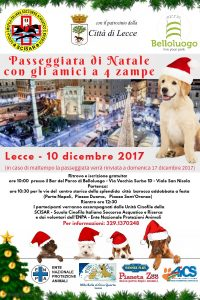 LECCE, PASSEGGIATA DI NATALE CON GLI AMICI A 4 ZAMPE @ Lecce | Lecce | Puglia | Italia