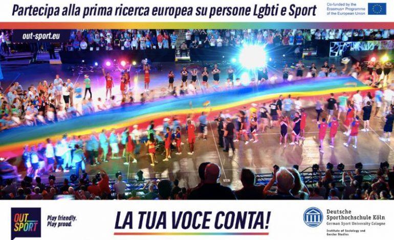 OUTSPORT, CON AICS PARTE OGGI LA PRIMA RICERCA EUROPEA SULLE PERSONE LGBTI E LO SPORT