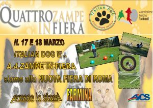 ROMA, A 4 ZAMPE IN FIERA @ Roma | Roma | Lazio | Italia