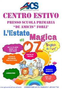 """FORLI': CENTRO ESTIVO AICS, DALL'11 GIUGNO """"L'ESTATE MAGICA DI OZ"""""""