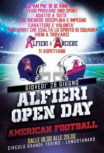 ASTI, AMERICAN FOOTBALL: ALFIERI OPEN DAY