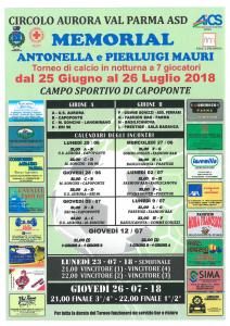 PARMA, A CAPOPONTE IL MEMORIAL ANTONELLA E PIERLUIGI MAURI @ Parma | Parma | Emilia-Romagna | Italia