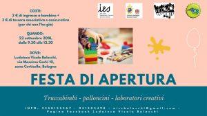 BOLOGNA, Festa di apertura Ludoteca Vicolo Balocchi @ Bologna   Bologna   Emilia-Romagna   Italia
