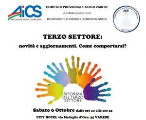 VARESE, SEMINARIO SULLA RIFORMA DEL TERZO SETTORE @ Varese | Varese | Lombardia | Italia