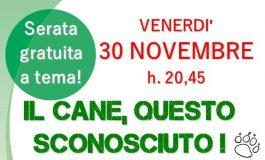 CINOFILIA, INCONTRO DIVULGATIVO CON L'EDUCATORE CINOFILO