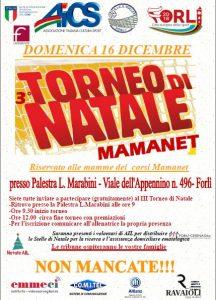 FORLI', 3° TORNEO DI NATALE DI MAMANET all'insegna della SOLIDARIETA' @ Forli