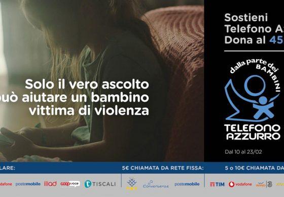 """TELEFONO AZZURRO: AL VIA LA CAMPAGNA SMS SOLIDALE """"IL VERO ASCOLTO"""""""