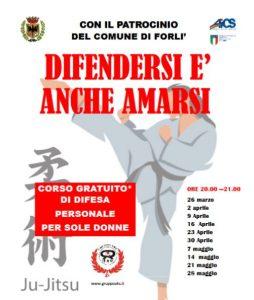 FORLI', CON AICS CORSO DI DIFESA PERSONALE PER SOLE DONNE @ Forli