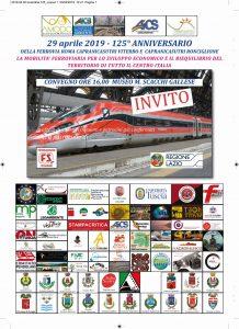 VITERBO, CONVEGNO PER IL 125° anniversario DELL'APERTURA DELLA FERROVIA ROMA CAPRANICA SUTRI VITERBO @ Viterbo