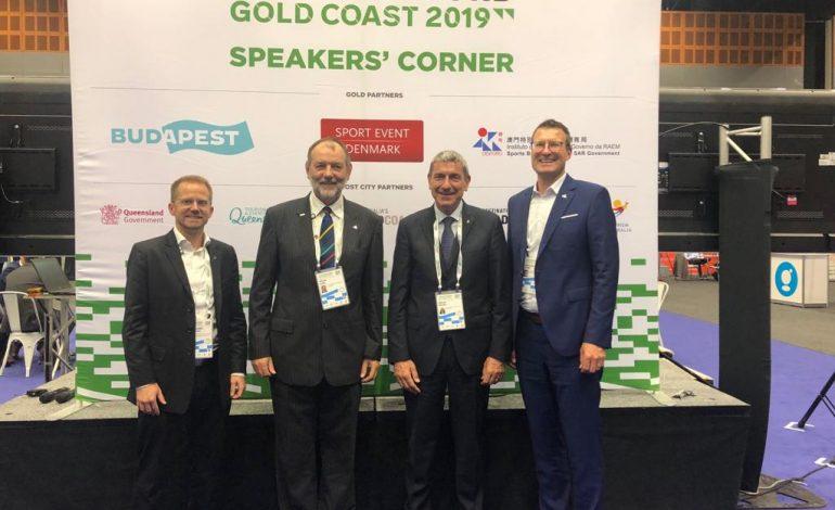 POLITICHE SPORTIVE, IL PRESIDENTE MOLEA IN AUSTRALIA per SPORTACCORD 2019