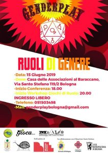 BOLOGNA, Genderplay - Ruoli di Genere Seconda Edizione @ Bologna