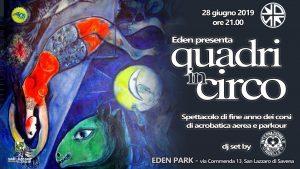 """BOLOGNA, Eden Park Zone presenta """"QUADRinCIRCO"""" - Spettacolo di fine anno dei corsi di acrobatica aerea e parkour @ Bologna"""