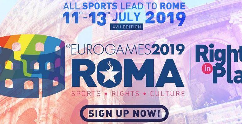 GAYCS, EUROGAMES 2019 SARA' PRESENTE ALLA SFILATA DEL 25° ROMA PRIDE