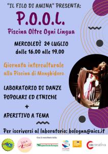 BOLOGNA, P.O.O.L.: Piscina Oltre Ogni Lingua – GIORNATA INTERCULTURALE ALLA PISCINA DI MONGHIDORO @ Bologna