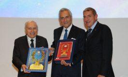 """CULTURA E SPORT, MOLEA PREMIA GRAVINA (FIGC) alla finale del """"WORLD FICTS CHALLENGE"""""""