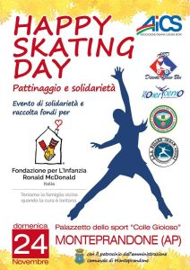 ASCOLI PICENO, la solidarietà sui mattini all'HAPPY SKATING DAY – 24 NOVEMBRE @ Ascoli Piceno