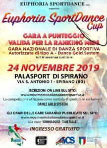 24 NOVEMBRE, BERGAMO: GARA NAZIONALE DI DANZA SPORTIVA @ Bergamo