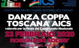 TOSCANA, 23 FEBBRAIO: DANZA COPPA TOSCANA AiCS