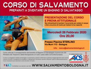 BOLOGNA, 26 FEBBRAIO: CORSO DI SALVAMENTO @ Bologna
