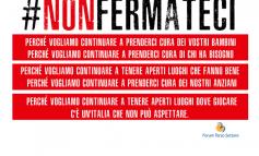 TERZO SETTORE, il FORUM lancia la campagna #NonFERMATECI