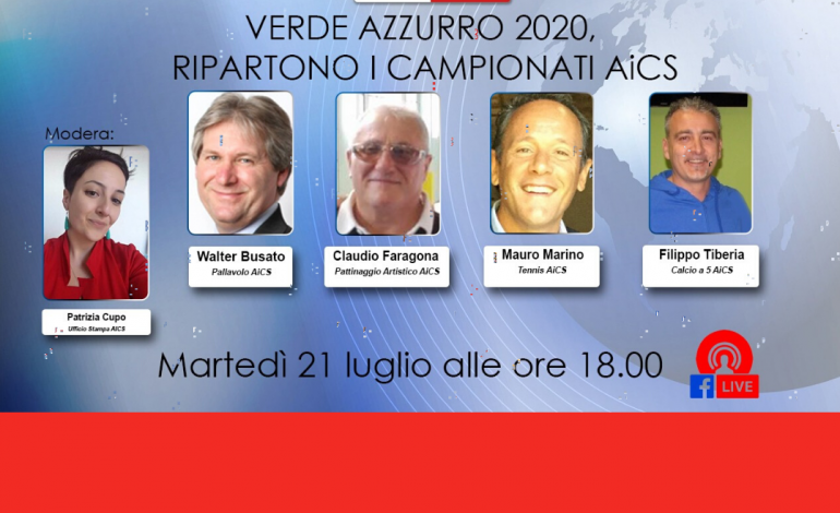 VERDEAZZURRO 2020, ad AiCSLiVE LA RIPRESA DEI CAMPIONATI AiCS