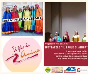 """BOLOGNA, A TEATRO CONTRO IL RAZZISMO: SPETTACOLO """"IL BAULE DI AMINA"""" @ Bologna"""