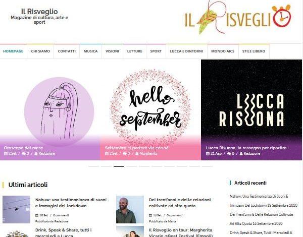 """LUCCA, AiCS LANCIA IL MAGAZINE ON LINE """"IL RISVEGLIO"""""""