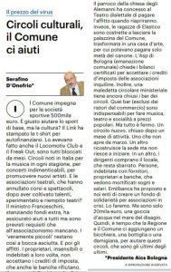 BOLOGNA, CIRCOLI CULTURALI – AiCS: IL COMUNE CI AIUTI @ Bologna