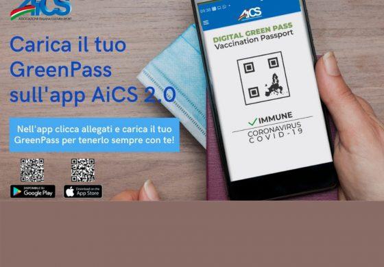 IL GREEN PASS DIRETTAMENTE SULL'APP AiCS 2.0: AiCS VICINO AI SUOI SOCI